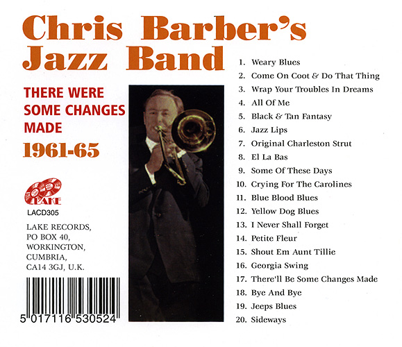 Chris barber record covers cd there were some changes made