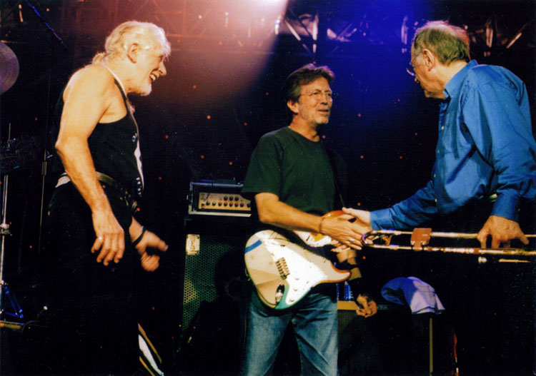 Photo of john mayall eric clapton and chris barber this terrific photograph of john mayall eric clapton and chris was taken at johns 70th birthday concert in liverpool on july 19 2003 publicscrutiny Images